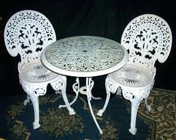 cast iron patio furniture repair victorian faux bois garden set at