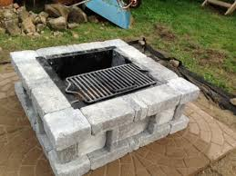Square Fire Pit Kit by Pavestone Rumblestone 38 5 In X 14 In Square Concrete Fire Pit
