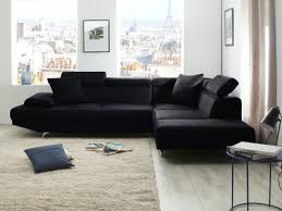 canape d angle noir canapé d angle fixe tissus le canape confortable et facile d entretien