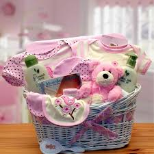 new gift baskets deluxe organic new baby gift basket pink stork baby gift