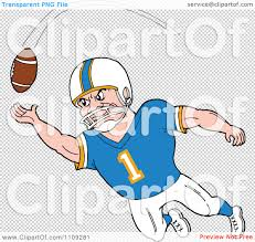 receiver clipart football player pencil and in color receiver