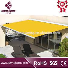Motorized Awning Acrylic Sail Material And Retractable Motorized Awnings Parts