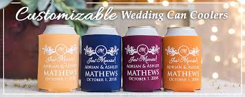 custom wedding koozies totallyweddingkoozies create your custom wedding can coolers