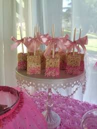 baby shower theme ideas for girl rice krispies dipper treats recipe candy table babies and