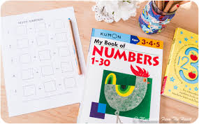 writing down solved equation montessori math lesson