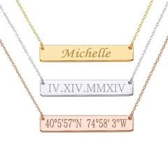 personalized name bar necklace personalized stainless steel custom name bar necklace forevergifts