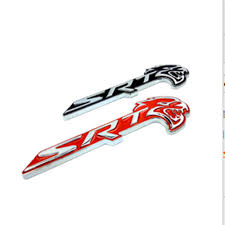 jeep cherokee logo car styling srt hellcat head metal black red emblem badge sticker