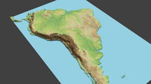 Surface Map 3d Asset South America Surface Low Poly Cgtrader