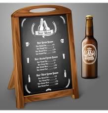 beer glass chalkboard menu background royalty free vector