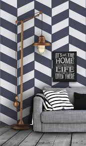 geometric herringbone pattern self adhesive vinyl by livettes