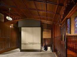 houghton memorial chapel multifaith center wellesley college p an elevator bay added in the narthex respects the existing ornate wood through