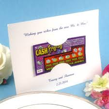 lottery ticket wedding favors personalized lottery ticket holders set of 25 las vegas favors