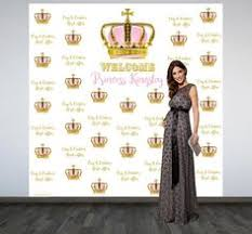 personalized photo backdrop royal baby shower personalized photo backdrop by bannersusa