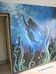 enthusiastic fantastic patience darling check out his work art design photo shop because he is truly gifted his little mermaid mural brings smiles to anyone who enters my daughter s room