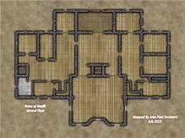 ruins of nazilli castle ruins level 2 battlemap gr by