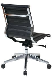 Modern Leather Office Chairs 73631 Office Star Modern Mid Back Black Eco Leather Chair