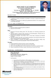 sample resume for ojt computer science students eliolera com