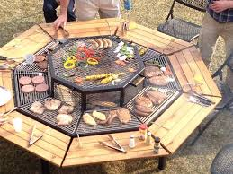Home Made Firepit Pit Grill 3 In 1 Pit Grill And Table Diy Cozy