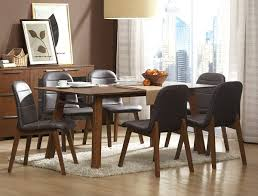 walnut finish 7 pc dining set caravana furniture