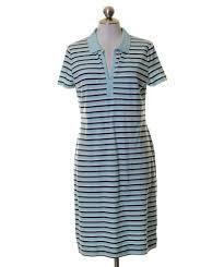 light blue striped polo dress talbots light blue black white striped polo stretch knit shirt dress