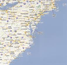 Florida Shark Attack Map Usa East Coast Map With States And Cities What Are The Farthest