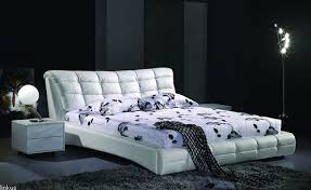White Leather Bed Frame King White Leather King Size Bed Melbourne Brisbane Delivery