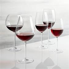 vineyard red wine glasses crate and barrel