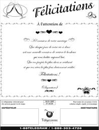 message f licitations mariage télégramme plus