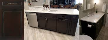 Espresso Cabinet Kitchen J U0026k Shaker Door Style Java Color Kitchen U0026 Bath Cabinets