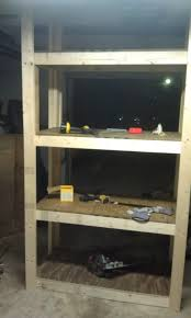 Free Standing Garage Shelves Plans by Building Some Quick Storage Shelves The Garage Journal Board