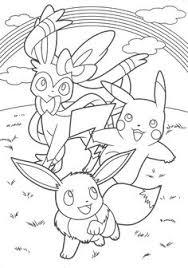 coloring fans pokemon creatures catch