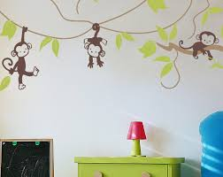 vinyl wall decals monkey vines