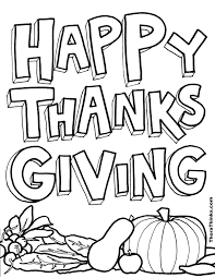 happy thanksgiving outline graphic