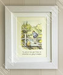 personalised quote gifts winnie the pooh framed quote print new baby birth nursery