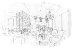 sketch interior perspective lobby lounge illustration 76938975