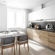 cuisine moderne blanc cuisine contemporaine blanche et bois 4 la chaise de cuisine