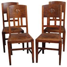 Arts And Crafts Dining Room Furniture Set Of Four Arts And Crafts Chairs Yew Tree House