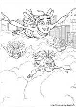 bee movie coloring pages coloring book