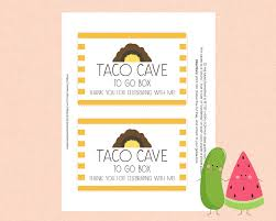 party favor labels inspired dragons tacos party favor label favor tags