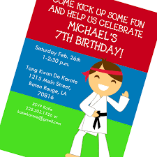 karate birthday invitations 28 images martial arts or karate
