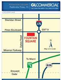Florida Turnpike Map Business Space For Lease At Fountain Square In Pembroke Pines