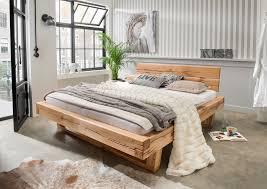 Schlafzimmerm El Echtholz Balkenbett Unika Inkl Baumkanten Kopfteil Wildeiche Massiv