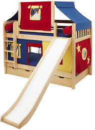 Loft Beds For Kids With Slide Boys Beds U0026 Bedroom Furniture Maxtrix Kids Furniture Maxtrix