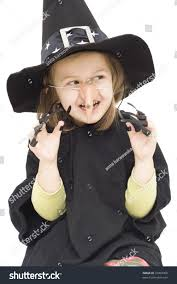little wearing witch halloween costume stock photo 10003069