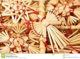 decorations from straw stock photo image 12154946