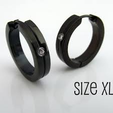 black diamond earrings for men men s hoop earring ring hoop earrings in black