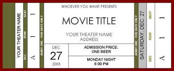 movie ticket templates for word movie ticket template cyberuse 6