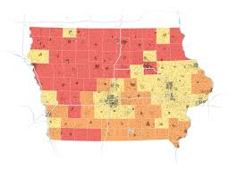Iowa Counties Map The Many Faces Of Iowa U0027s Caucus Voters Wsj Com