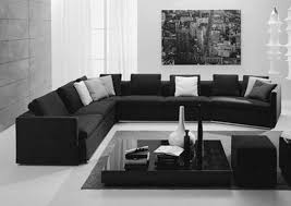living room black and white theme inspirations also color