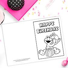 printable birthday cards elmo free printable birthday card archives the organised housewife shop